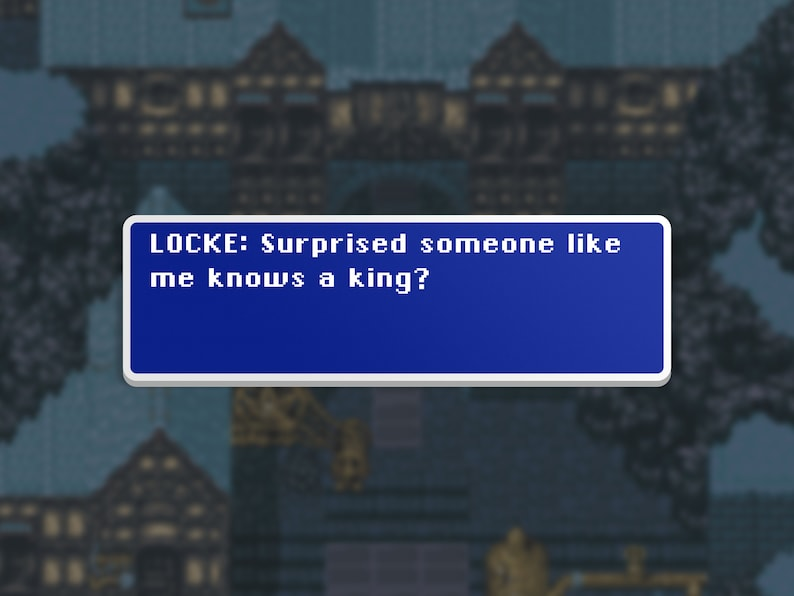 Someone Like Me  Locke  Final Fantasy VI Dialog Box image 0