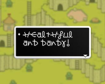 Healthful and Dandy - Mr. Saturn Dialog Box