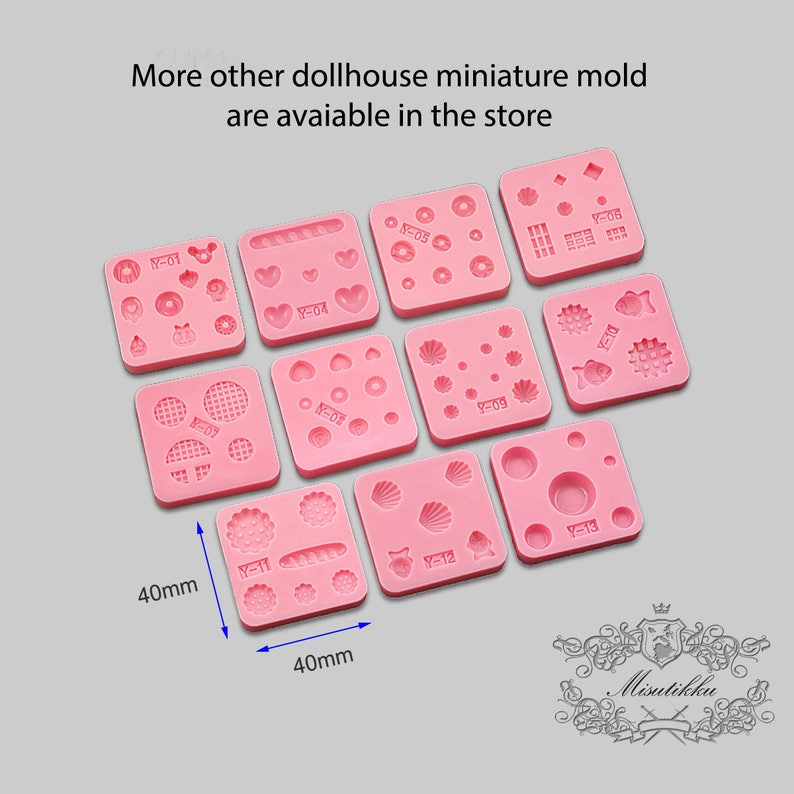1 PC Mini Heart Mold Dollhouse Miniature French Bread Fake Kawaii Food Mold  Mold Flexible Clay Mold Silicone Epoxy Resin Mould MD/_V/_Y04