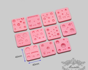 Set of 11 PCS Miniature Sweets Mold Donuts Cupcake Ice cream fruit Chocolate Bar Whipping Cream Dollhouse Food Cookies Bread Molds MD_V_Y