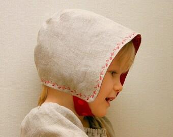 Baby Linen hat Sun hat Scandinavian style bonnet