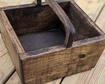 Wooden Decorative Basket with handle