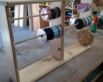 Double Ribbon Rack for 4-5 and 7 inch spools FREE SHIPPING