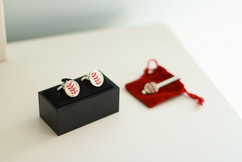 Wedding Party Groomsmen or Graduation Gift Idea! Baseball Cufflinks w Actual Used Baseballs the Perfect Valentine/'s Day