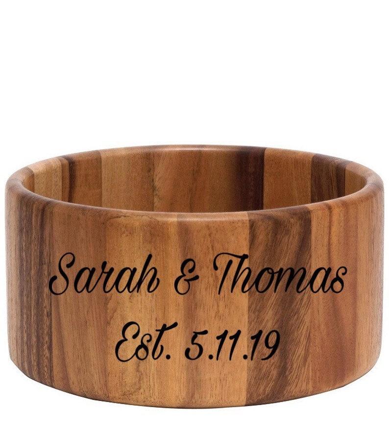 Personalized Wooden Bowl *Wedding Gift* *Christmas Gift* *Housewarming Gift*