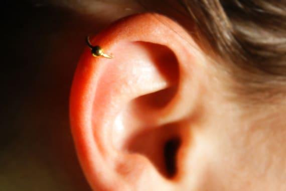 MINI Ear Cuff Cartilage Faux Earring Fake Earring No Piercing Hoop Gold Hoop Helix earcuff 14K Gold Filled Double Twist Wire MCEDWGF
