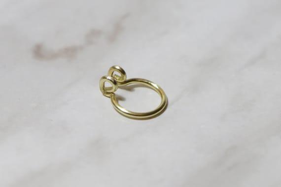simple SMALL HOOP plain sterling silver tiny fake nose ring Peekaboo Fake Septum Ring minimalist 20 gauge septum cuff