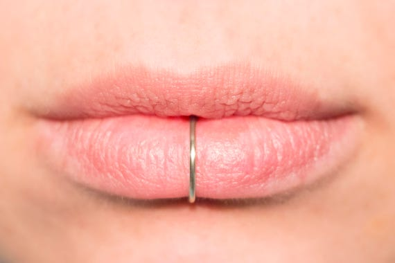 Fake Gold Filled Lip clip on cuff No Piercing Required