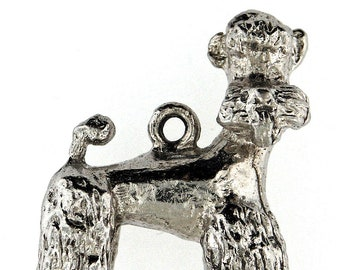 Vintage Retro Sterling Silver Poodle Charm