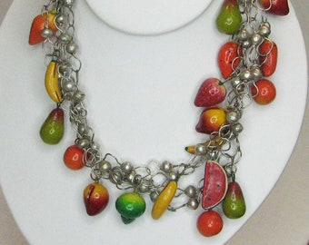 WILD AND FRUITY Summer Fruit Necklace