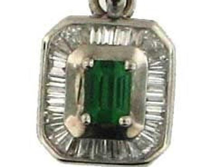 GREEN WITH ENVY Tsavorite Garnet in White Gold Pendant