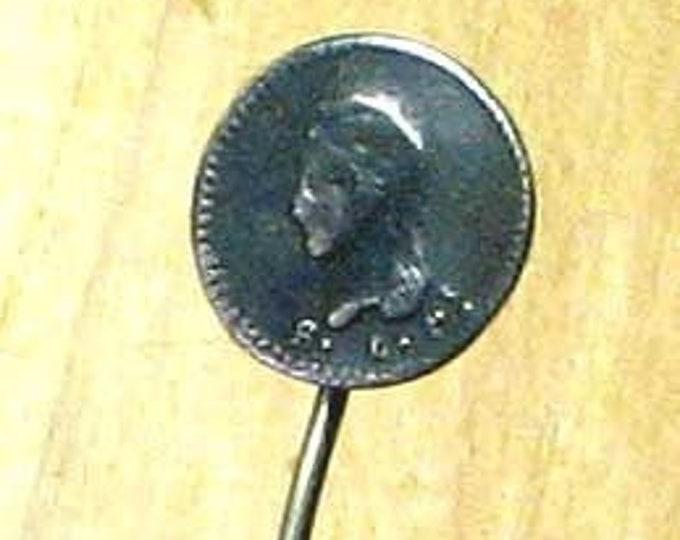 Vintage Republica Mexicana Coin Cravat Pin