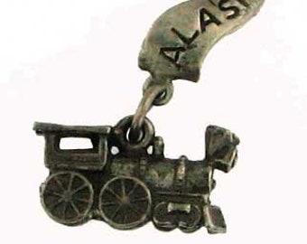 Vintage Sterling Silver Alaska Train Charm