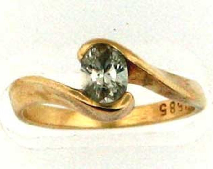 OVAL IS IN 14K Yellow gold Solitaire