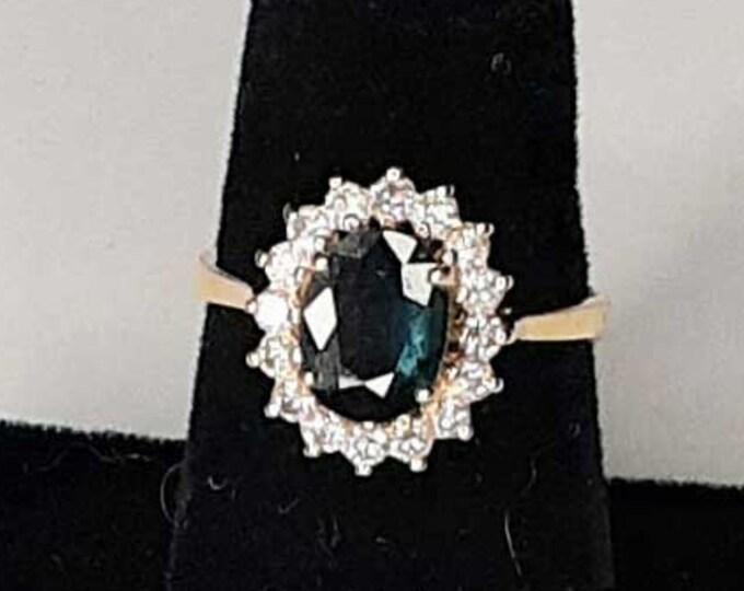 PRINCESS DIANA SAPPHIRE and Diamond Ring
