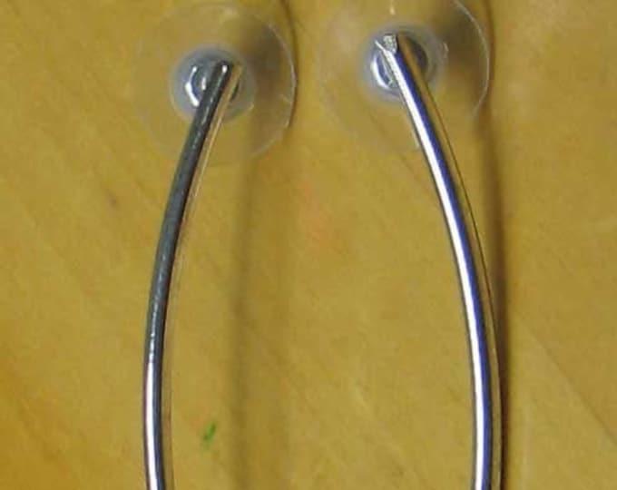 80s Style Sterling Silver Long Earrings