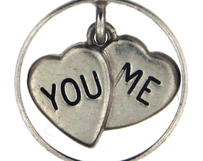 Sterling Silver You & Me Charm with Wedding Band