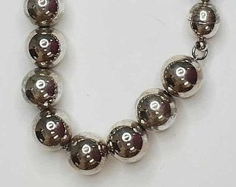 8 inch Sterling Beaded Bracelet