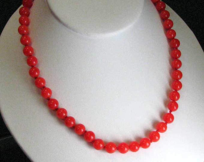 RED HOT Glass Bead Necklace