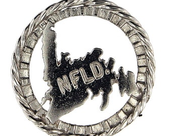 """Sterling Silver """"Newfoundland"""" Map Charm"""