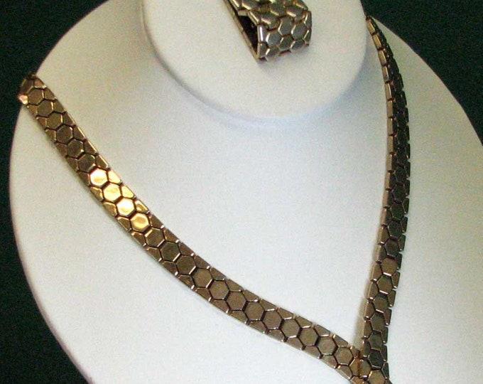 CROWN TRIFARI RETRO Necklace and Bracelet Set