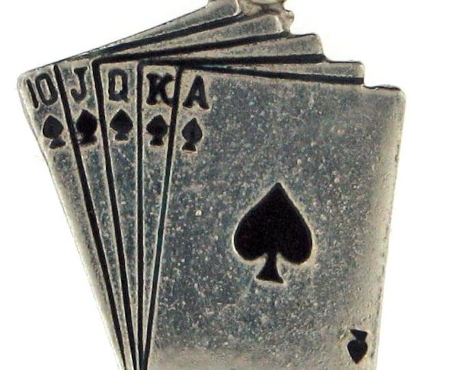 Vintage Sterling Silver Playing Royal Flush Charm