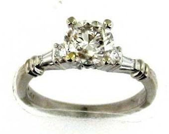 Platinum Scott Kay Diamond Engagement Ring with 1 Carat Plus Diamond