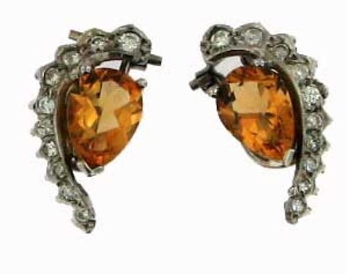 NOVEMBER CITRINE DIAMOND Earrings