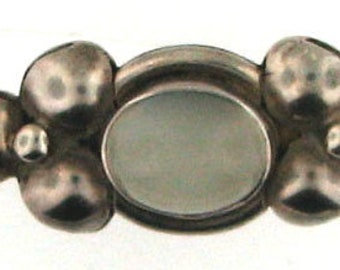 Sterling Silver Moonstone Bar Pin