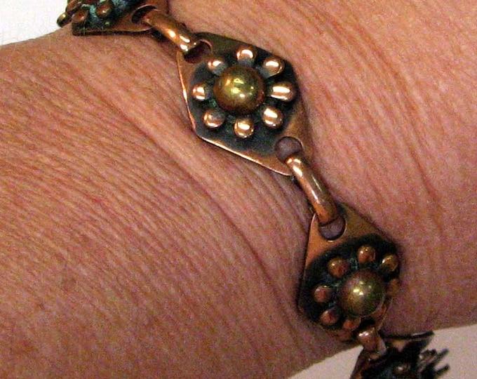 Vintage Retro Copper Link Bracelet
