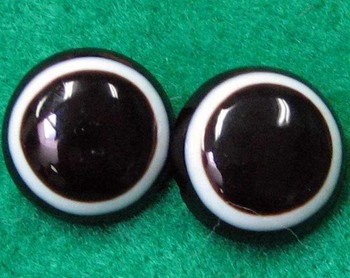 Vintage Bullseye Banded Agate Onyx Earrings