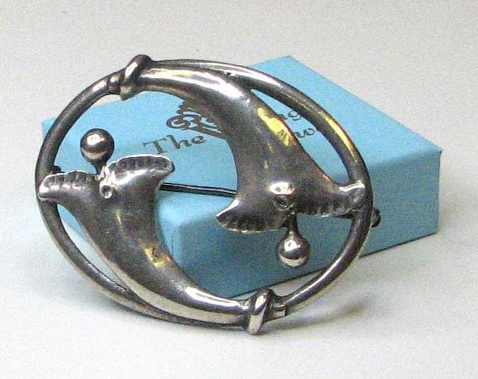 DANISH MODERN Wisteria Flower Brooch Pin