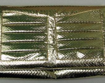 DISCO GOLD VINTAGE 70s Clutch Purse