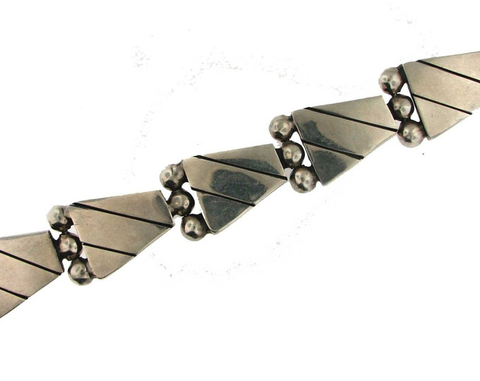 MEXICAN SILVER MODERNISTIC Bracelet