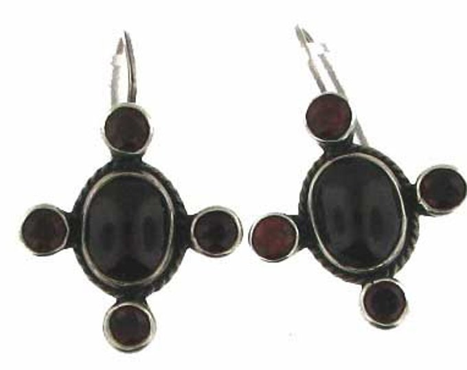 Sterling Silver Rhodolite Garnet Drop Earrings