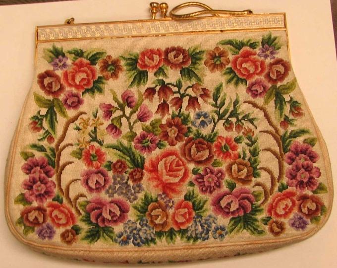 Colorful Floral Shoulder or Clutch Purse