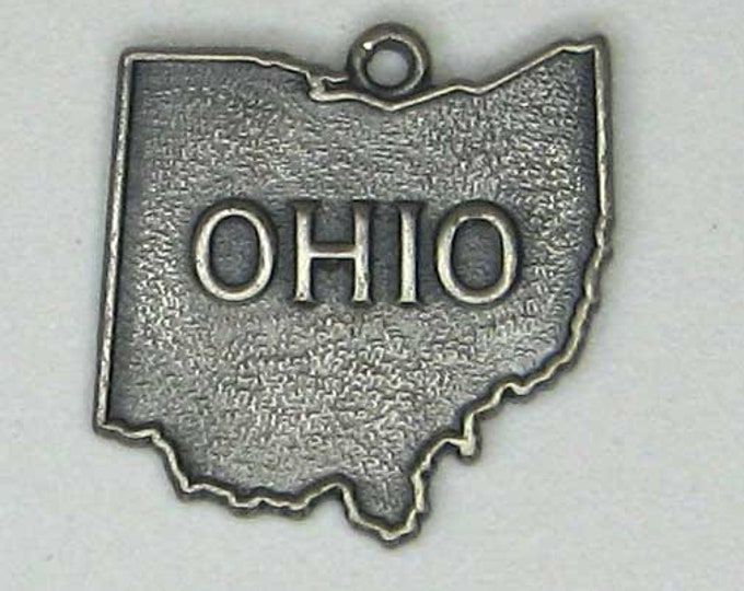 Sterling Silver State of Ohio Charm Pendant