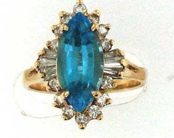 WELL MADE TOPAZ And Diamond Ring