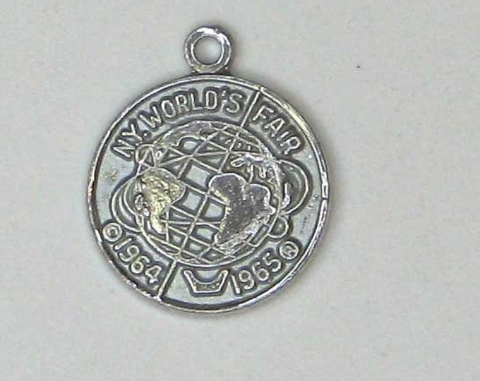 Sterling Silver 1964  New York World's Fair Charm Pendant