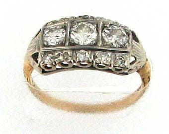 Vintage Art Deco Three Stone Diamond Ring