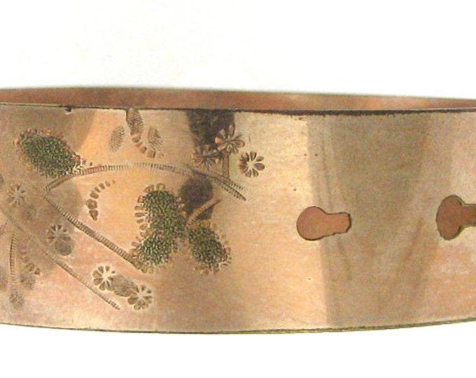 Vintage Victorian Gold Filled Expandable Buckle Bracelet