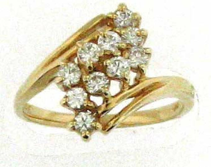 MUST GO SPARKLY Yellow Gold Diamond Ring