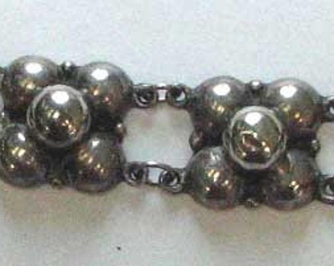 Sterling Silver Three Dimensional Link Bracelet