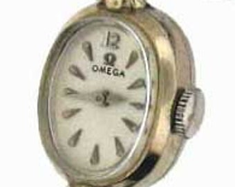 WHITE GOLD OMEGA Lady's Watch Vintage Running