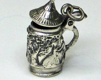 Sterling Silver Bierstein Charm with Moving Lid