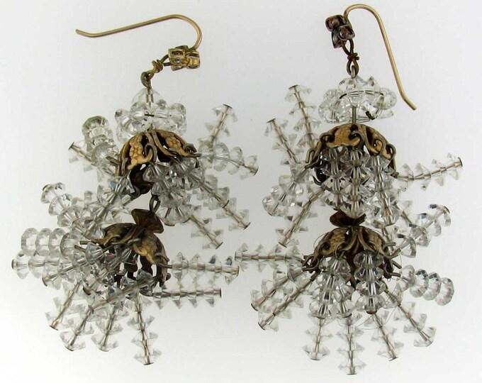 Fun and Versatile Colorless Clear Chandelier Tassel Bead Earrings