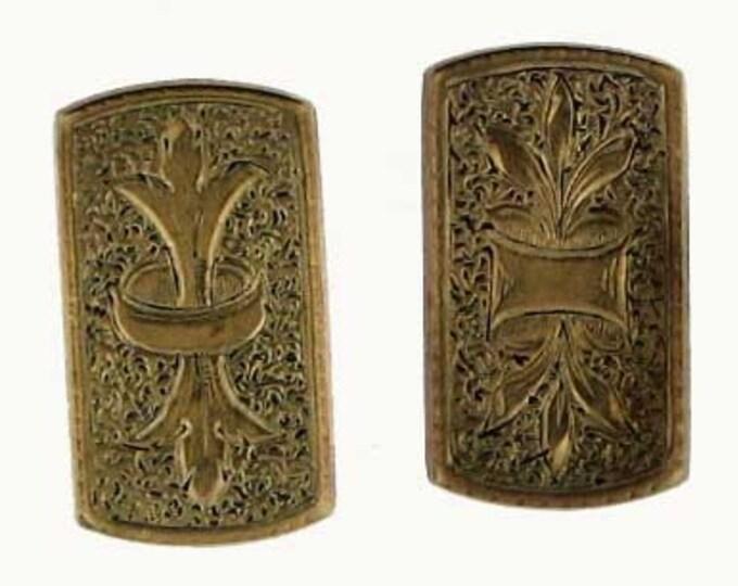 Vintage Victorian Repurposed Gold Filled Gentleman's Cuff LInk Pierced Earrings