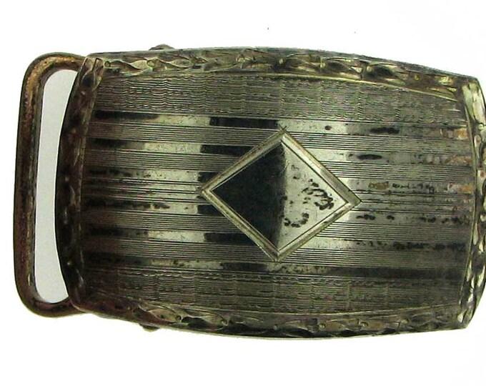 Vintage Art Deco Silver Tone Belt Buckle