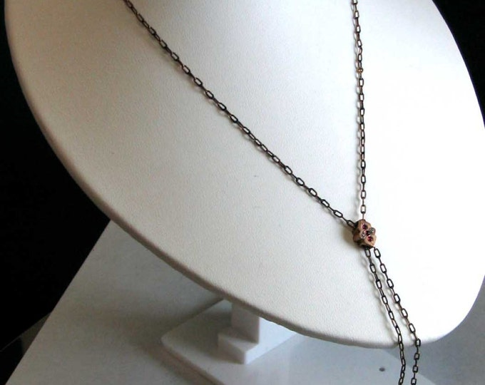 Vintage Victorian Gold Filled Lady's Watch Chain with Slide