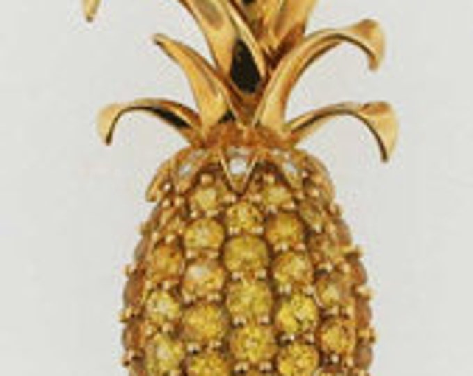 Vintage Tiffany & Co. Gold Sapphire and Diamond Pineapple Brooch Pin